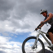 Competitors in action during the Active Q T Ultimate Tri Series Jack's Point Triathlon, Jack's Point,  Queenstown, Otago, New Zealand. 14th January 2012. Photo Tim Clayton