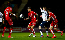Marlon Pack of Bristol City and Tom Barkhuizen of Preston North End - Mandatory by-line: Matt McNulty/JMP - 04/04/2017 - FOOTBALL - Deepdale - Preston, England - Preston North End v Bristol City - Sky Bet Championship