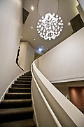 The interior staircase at Alinea, an upscale restaurant which underwent a total gut renovation in the Lincoln Park neighborhood of Chicago, Ill., on Thursday, April 28, 2016. Nathan Weber for the New York Times