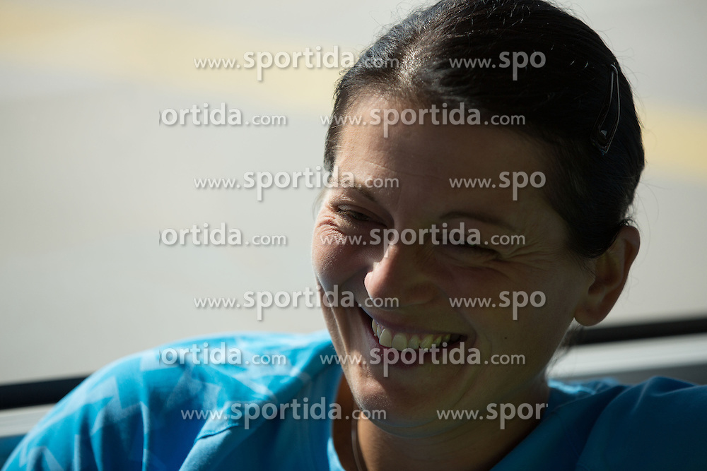 Regina Trbuc Roudi of Team Slovenia at Airport in Frankfurt during way back to Airport Joze Pucnik after the London 2012 Paralympic Games on September 10, 2012, in Frankfurt, Germany. (Photo by Vid Ponikvar / Sportida.com)