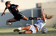 Irmo's Gabi Byrd, left, and Lexington's Ali Steele battle for a ball in Lexington's 7-1 win in the Upper State Championships. Photo by Columbia, SC, photojournalist Jeff Blake