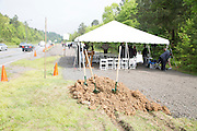Deltic Timber ground breaking for the expansion of Rahling Road in West Little Rock, Arkansas for Wright, Lindsey Jennings Law Firm<br /> <br /> ©Wesley Hitt 2015