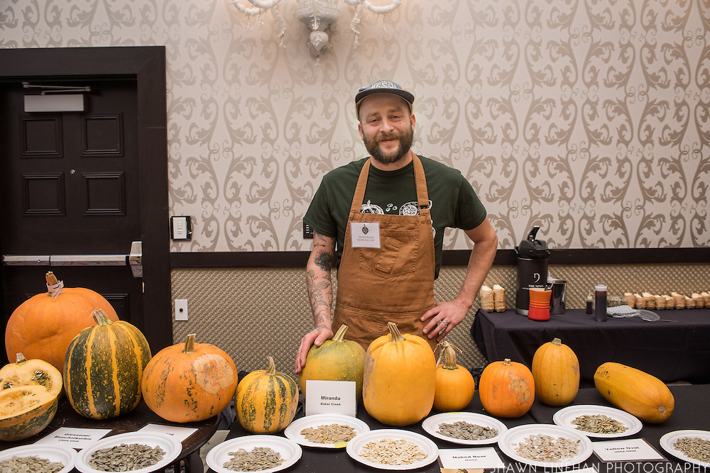 WINTER SQUASH, Cucurbita spp. <br />Chef: Timothy Wastell<br />Dish: Hull-less Pumpkin Seed Oil Ice Cream, Caramelized Pumpkin Juice &amp; Crushed Seeds