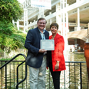 Medicine Shoppe Reception at RBC 2019. Operational Excellence Award, David Bush (Medicap Greenfield IN). Photo by Alabastro Photography.