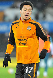 Helder Costa of Wolverhampton Wanderers warms up-Mandatory by-line: Nizaam Jones/JMP- 17/01/2018 - FOOTBALL - Liberty Stadium- Swansea, Wales - Swansea City v Wolverhampton Wanderers - Emirates FA Cup third round proper