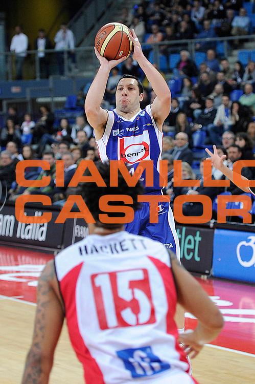 DESCRIZIONE : Pesaro Lega A 2011-12 Scavolini Siviglia Pesaro Bennet Cantu<br /> GIOCATORE : Nicolas Mazzarino<br /> CATEGORIA : tiro<br /> SQUADRA : Bennet Cantu<br /> EVENTO : Campionato Lega A 2011-2012<br /> GARA : Scavolini Siviglia Pesaro Bennet Cantu<br /> DATA : 21/03/2012<br /> SPORT : Pallacanestro<br /> AUTORE : Agenzia Ciamillo-Castoria/C.De Massis<br /> Galleria : Lega Basket A 2011-2012<br /> Fotonotizia : Pesaro Lega A 2011-12 Scavolini Siviglia Pesaro Bennet Cantu<br /> Predefinita :