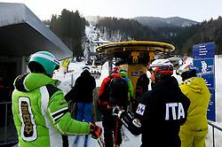 Athletes prior to the 10th Men's Slalom - Pokal Vitranc 2014 of FIS Alpine Ski World Cup 2013/2014, on March 8, 2014 in Vitranc, Kranjska Gora, Slovenia. Photo by Matic Klansek Velej / Sportida