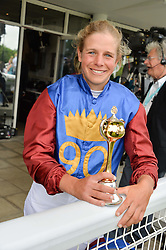 Leading GB event rider ISABELLE TAYLOR wimmimg rider of the Magnolia Cup at day 3 of the Qatar Glorious Goodwood Festival at Goodwood Racecourse, Chechester, West Sussex on 28th July 2016.