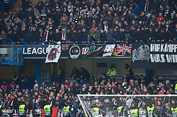 09.05.2019, Stamford Bridge, London, ENG, UEFA EL, FC Chelsea vs Eintracht Frankfurt, Halbfinale, Rückspiel, im Bild Eintracht Frankfurt fans // Eintracht Frankfurt fans during the UEFA Europa League semifinal 2nd leg match between FC Chelsea and Eintracht Frankfurt at the Stamford Bridge in London, Great Britain on 2019/05/09. EXPA Pictures © 2019, PhotoCredit: EXPA/ Focus Images/ Alan Stanford<br /> <br /> *****ATTENTION - for AUT, GER, FRA, ITA, SUI, POL, CRO, SLO only*****