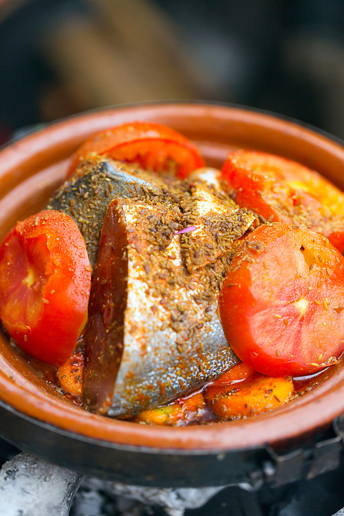 Fish tagine, Mirleft, Southern Morocco, 2016-06-03.