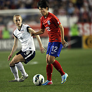 Yoo Younga, Korean Republic, in action during the U.S. Women Vs Korea Republic friendly soccer match at Red Bull Arena, Harrison, New Jersey. USA. 20th June 2013. Photo Tim Clayton