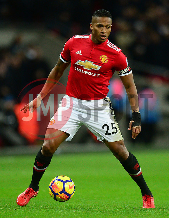 Luis Antonio Valencia of Manchester United - Mandatory by-line: Alex James/JMP - 31/01/2018 - FOOTBALL - Wembley Stadium - London, England - Tottenham Hotspur v Manchester United - Premier League