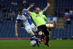 Jack Marriott of Peterborough United in action with Darragh Lenihan of Blackburn Rovers - Mandatory by-line: Joe Dent/JMP - 19/04/2018 - FOOTBALL - Ewood Park - Blackburn, England - Blackburn Rovers v Peterborough United - Sky Bet League One