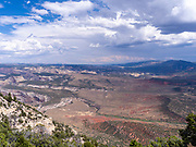 High angle view of Dinosaur National Monument, Colorado, USA.