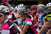 Nicole Oh (AUS) on the start line at The Pro Women's Grand Prix race at Prudential RideLondon, the world's greatest festival of cycling, involving 70,000+ cyclists – from Olympic champions to a free family fun ride - riding in five events over closed roads in London and Surrey over the weekend of 9th and 10th August. <br />
