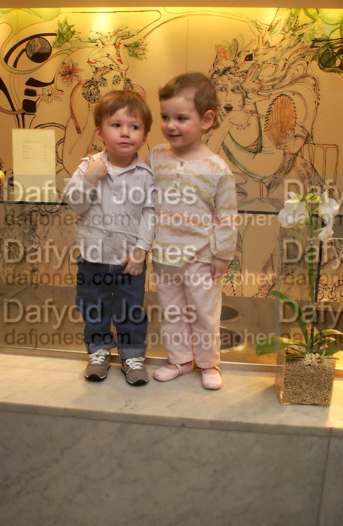 Heathcliffe Rellie  and Tatiana Nooy. Launch of 'Lucy  Sykes Baby, New York' Selfridges. 14 April 2005. ONE TIME USE ONLY - DO NOT ARCHIVE  © Copyright Photograph by Dafydd Jones 66 Stockwell Park Rd. London SW9 0DA Tel 020 7733 0108 www.dafjones.com