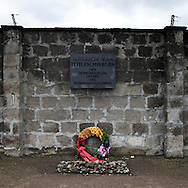 Sachsenhausen, Berlin .A monument in memory of the homosexuals died in Sachsenhausen  concentration camp between 1936 and 1945.
