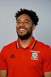CARDIFF, WALES - Wednesday, June 7, 2017: Wales' captain Ashley Williams during a photoshoot for Vauxhall at the Vale Resort. (Pic by David Rawcliffe/Propaganda)