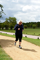 Helen Thorn Celebrate You Training Session with Tim Weeks in Richmond Park, Surrey - preparing runners for The Vitality London 10,000, which will take place on Monday 27th May 2019. Friday 26 April 2019<br /> <br /> Photo: Kate Green for Vitality London 10,000<br /> <br /> For further information: media@londonmarathonevents.co.uk