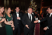ALLIE ESIRI; MELANIE SHERWOOD; JAMES SHERWOOD; MIKE SHERWOOD; ALAN PARKER, The Secret Winter Gala in aid of Save the Children and sponsored by Bulgari. Guildhall. London. 26 November 2013