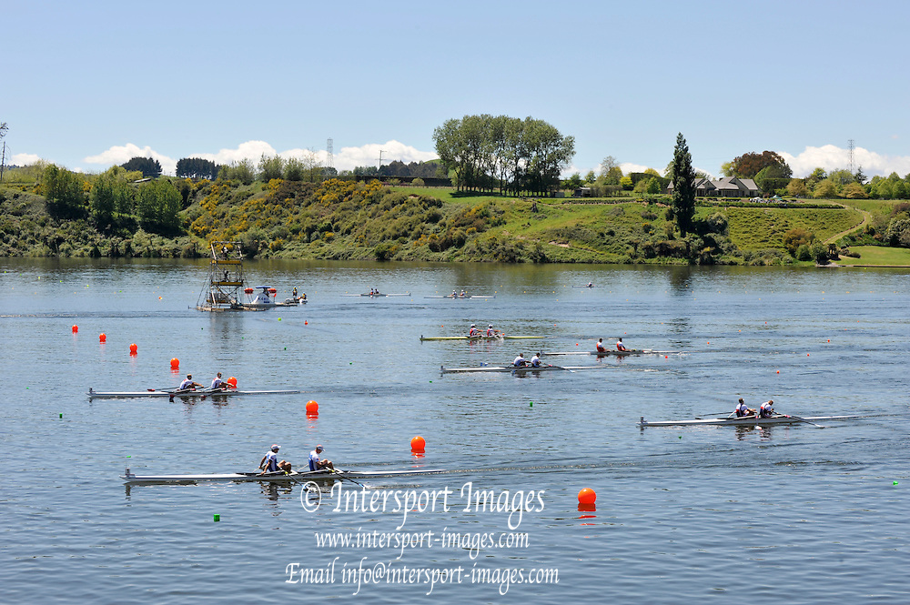 Hamilton, NEW ZEALAND.  B Final . M2X men's double sculls. 2010 World Rowing Championships - Lake Karapiro. Sunday. 07.11.2010.  [Mandatory Credit Peter Spurrier:Intersport Images].