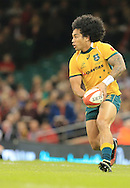 Joe Tomane of Australia during the International Test Match match at the Millennium Stadium, Cardiff<br /> Picture by Michael Whitefoot/Focus Images Ltd 07969 898192<br /> 08/11/2014