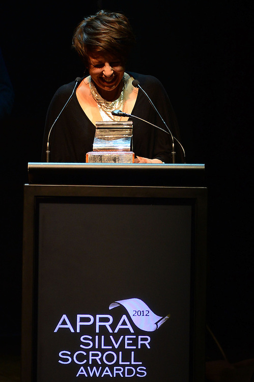 Stephanie Brown, winner of the APRA Silver Scroll Award 2012. Auckland Town Hall. 13 September 2012.