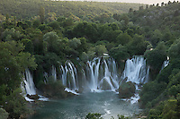 Kravice falls along the Trebizat River, a tributary of the Neretva River. Bosnia-Herzegovina. May 2009.<br /> Elio della Ferrera / Wild Wonders of Europe
