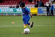 *** during the EFL Sky Bet League 1 match between AFC Wimbledon and Southend United at the Cherry Red Records Stadium, Kingston, England on 1 January 2018. Photo by Matthew Redman.