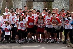 © Licensed to London News Pictures.  14/03/2012. LONDON, UK. Start of the Sport Relief Westminster Mile run by MPs and Peers in St James Park each year in aid of the charity. The Mile was won by George Eustice, MP for Camborne Redruth and Hayle (not pictured) in a time of 5 minutes 28 seconds. Photo credit :  Cliff Hide/LNP