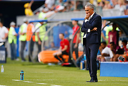 July 2, 2018 - Samara, Rússia - SAMARA, SA - 02.07.2018: BRAZIL VS. MEXICO - The technician from Brazil, Tite during the match between Brazil and Mexico valid for the eighth round of the 2018 World Cup held at the Samara Arena in Samara, Russia. (Credit Image: © Marcelo Machado De Melo/Fotoarena via ZUMA Press)