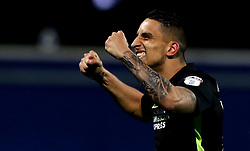Anthony Knockaert of Brighton & Hove Albion celebrates the win over Queens Park Rangers - Mandatory by-line: Robbie Stephenson/JMP - 07/04/2017 - FOOTBALL - Loftus Road - Queens Park Rangers, England - Queens Park Rangers v Brighton and Hove Albion - Sky Bet Championship