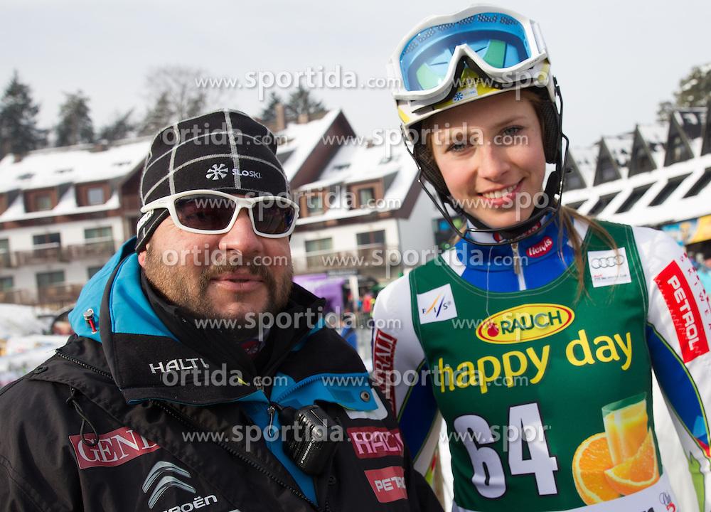 """during FIS Alpine Ski World Cup 7th Ladies' Slalom race named """"49th Golden Fox 2013"""", on January 27, 2013 in Mariborsko Pohorje, Maribor, Slovenia. (Photo By Vid Ponikvar / Sportida.com)"""