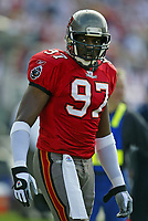 Tampa Bay Buccaneers Simeon Rice plays in a game Circa 2003-2006<br /> (Tom DiPace)
