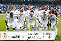 06.01.2013 SPAIN -  La Liga 12/13 Matchday 18th  match played between Real Madrid CF vs  Real Sociedad (4-3) at Santiago Bernabeu stadium. The picture show  Real Madrid CF Team Group Liune-up