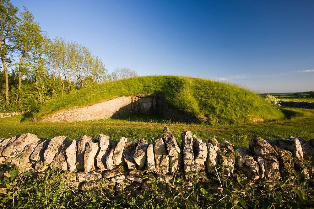 Belas Knap Long Barrow ancient monument near Winchcombe, Gloucestershire, UK