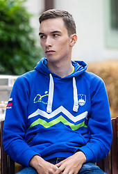 Aljaz Colnar during press conference of Slovenian national cycling team before world championship in Yorkshire, Great Britain. Press conference held in Dvor Jezersek, on 17th of September, 2019, Kranj, Slovenia. Photo by Grega Valancic / Sportida