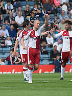 Rangers' Kenny Miller celebrates after doubling his side's lead  - Dundee v Rangers, Ladbrokes Scottish Premiership at Dens Park<br /> <br />  - &copy; David Young - www.davidyoungphoto.co.uk - email: davidyoungphoto@gmail.com