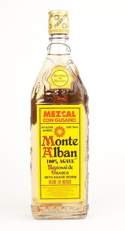 Monte Alban Mezcal con Gusano -- Image originally appeared in the Tequila Matchmaker: http://tequilamatchmaker.com