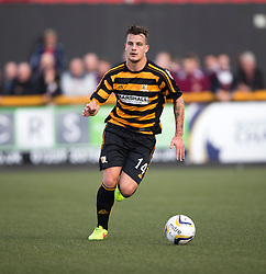 Alloa Athletic's Kyle Benedictus. <br /> Alloa Athletic 0 v 1 Hearts, Scottish Championship played at Recreation Park, Alloa.