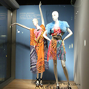 Seattle Opera's Magic Flute costumes by Zandra Rhodes on display at Neiman Marcus Bellevue