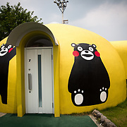 KUMAMOTO, JAPAN - JULY 31: A Quake-proof dome house painted with Kumamon is seen in Aso Farm Land, Kumamoto prefecture, Japan, July 31, 2017. (Photo: Richard Atrero de Guzman/NUR Photo)