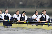 Putney, GREAT BRITAIN,    left to right Colin KEOGH, 2. Douglas BRUCE, 3.Michal PLOTOWIAK, 4. David HOPPER, 5. Aaron MARCOVY, 6. Ben HARRISON,during the 2008 Varsity/Oxford University [OUBC] Trial Eights, raced over the championship course. Putney to Mortlake, on the River Thames. Thurs. 11.08.2008 [Mandatory Credit, Peter Spurrier/Intersport-images] Varsity Boat Race, Rowing Course: River Thames, Championship course, Putney to Mortlake 4.25 Miles,
