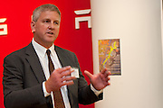 Tom Glendening with E3NYC at MCC Transportation Transformation Series: Opening Reception at Tesla Showroom held  May 11, 2011 at Tesla Motors New York, 511 West 25th Street, New York. This exciting series was presented by MCC's Green Business Committee, MCC's Tech and Innovation Committee and E3NYC. The MCC offers the business community a variety of perspectives of the direction of clean transportation in New York and beyond. The Tesla Roadster is the world's only automobile that offers supercar performance without supercar emissions. Engineered for performance and efficiency, it accelerates from 0 to 60 in 3.7 seconds, delivering 295 lbs-ft. of torque without using a drop of gasoline. The Roadster travels 245 miles on a single charge and plugs into nearly any outlet in the world - allowing for uncompromised electric driving. The event was sponsored by Con Edison Commercial & Industrial Energy Efficiency Programs for sponsoring the MCC Green Business Committee for 2011.