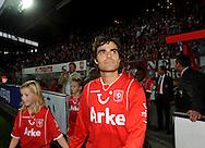 13-09-2008 VOETBAL:FC TWENTE:NEC NIJMEGEN:ENSCHEDE <br /> Kenneth Perez maakt zijn thuisdebuut bij FC Twente<br /> Foto: Geert van Erven