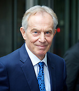 Andrew Marr Show <br /> departures<br /> BBC, Broadcasting House, London, Great Britain <br /> 19th March 2017 <br /> <br /> Tony Blair <br /> departing the Andrew Marr Show <br /> <br /> <br /> Photograph by Elliott Franks <br /> Image licensed to Elliott Franks Photography Services