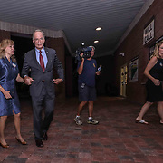"United States Senator Tom Carper ""LEFT"" and his wife Martha Ann Stacy arrive at Frawley Stadium for Primary Election gathering Thursday, Sept. 06, 2018, in Wilmington, Delaware."