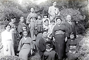 group photo during a family outing Japan late 1940s