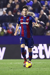 January 4, 2019 - Valencia, Spain - LEVANTE'S DEFENDER NIKOLA VUKCEVIC  during  spanish La Liga match between Levante UD vs Girona FC  at Ciutat de Valencia  Stadium on January  4, 2018. (Photo by Jose Miguel Fernandez/NurPhoto) (Credit Image: © Jose Miguel Fernandez/NurPhoto via ZUMA Press)