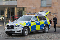Armed police react around Holyrood, Edinburgh, 24 February 2019